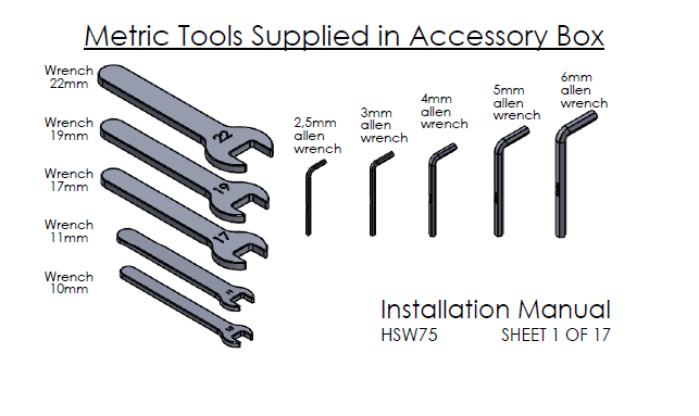 Tool Box with Metric Installation Tools