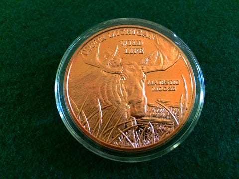 Majestic Moose Copper Coin