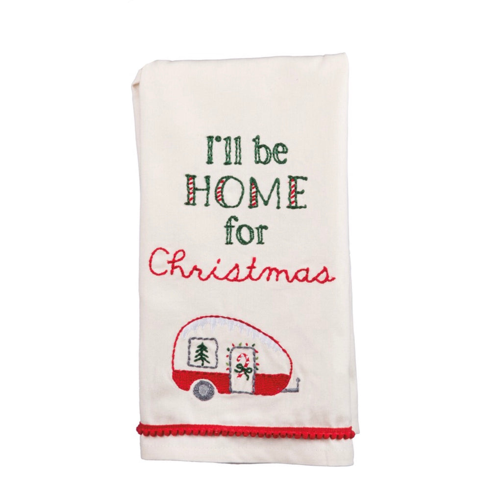 I'll Be Home for Christmas Dish Towel
