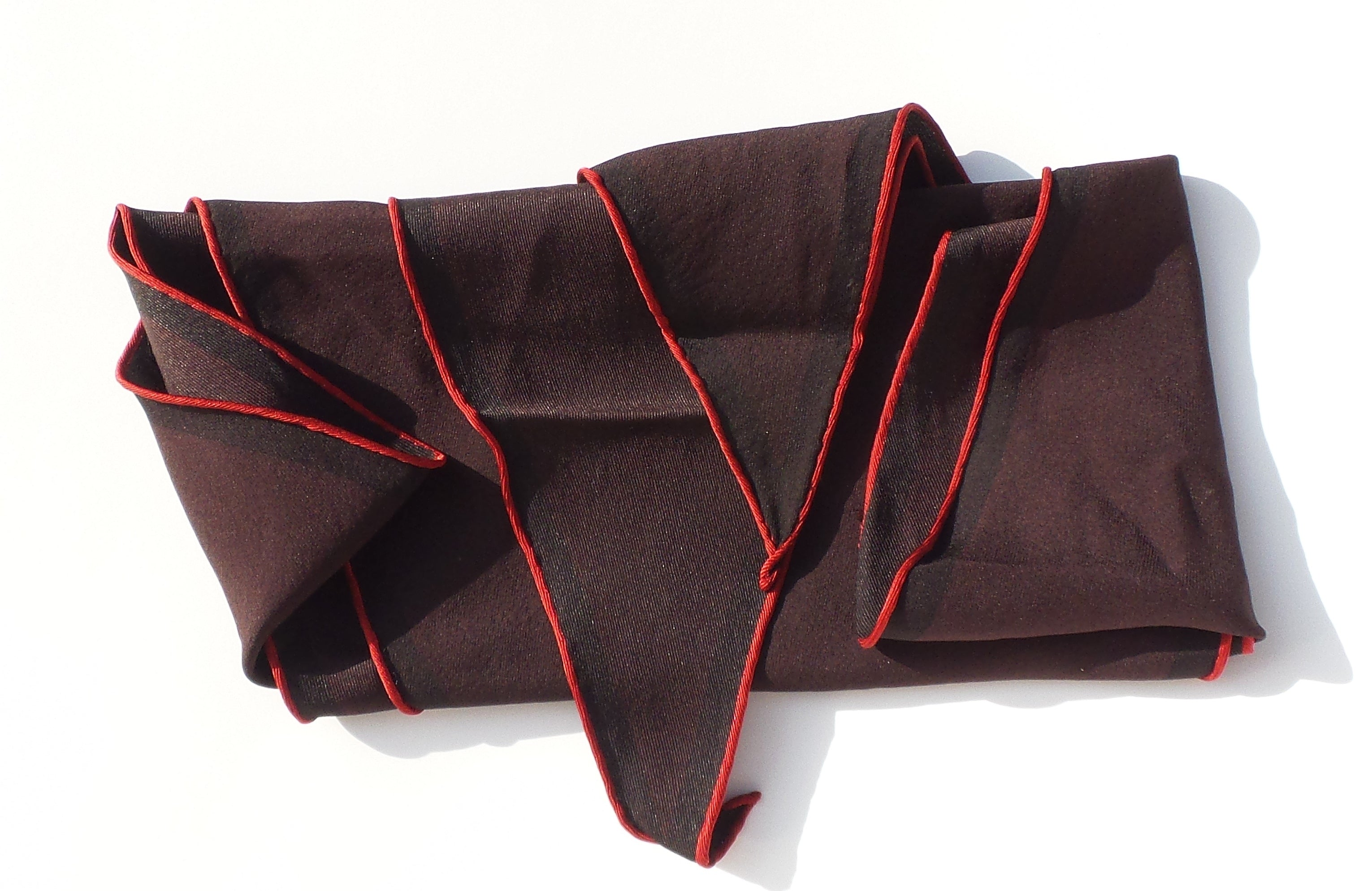 'Sold' HERMES Tri Color Eggplant Plum Burgundy Black Red Border Losange PM Silk Scarf