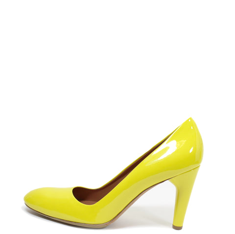 'Sold' Céline Yellow Patent Leather Pumps (Size 39)