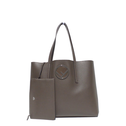 CHANEL 03A Sand Tan Rosewood Caviar Leather Front Pocket Flap CC Tote Bag A23019