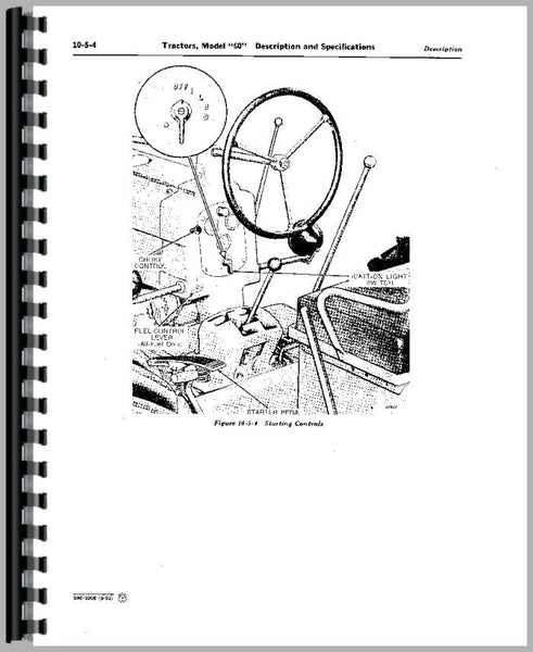 Service Manual for John Deere 60 Tractor