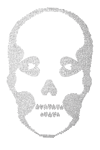 Basic Skull Iridescent - Large