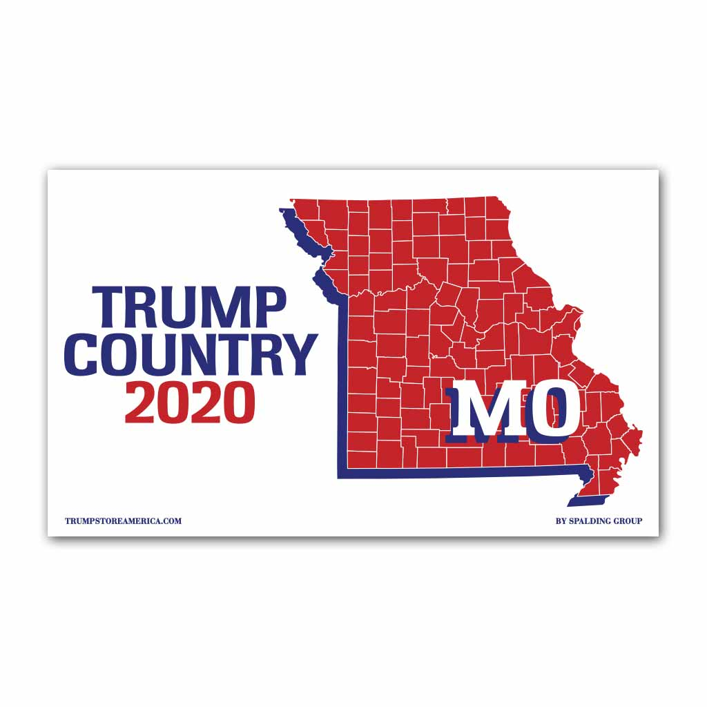 Missouri Is Trump Country 2020 Vinyl 5 X 3 Banner