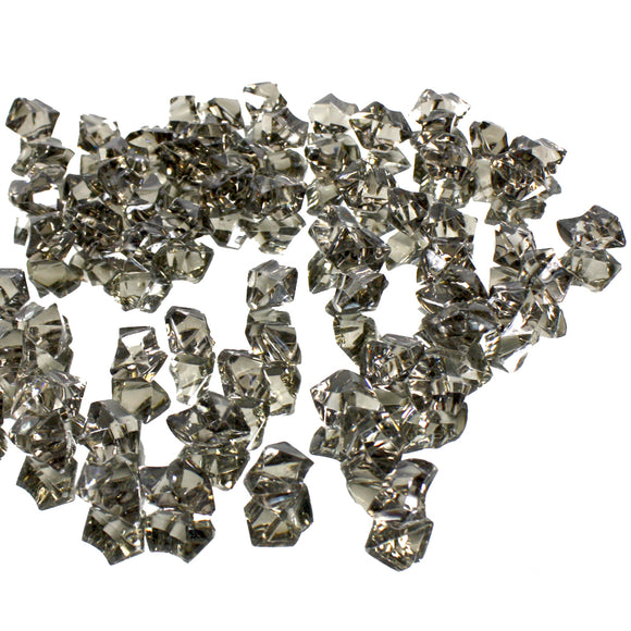 Grey acrylic vase filler gems, 1lb Bag - ifloral.com