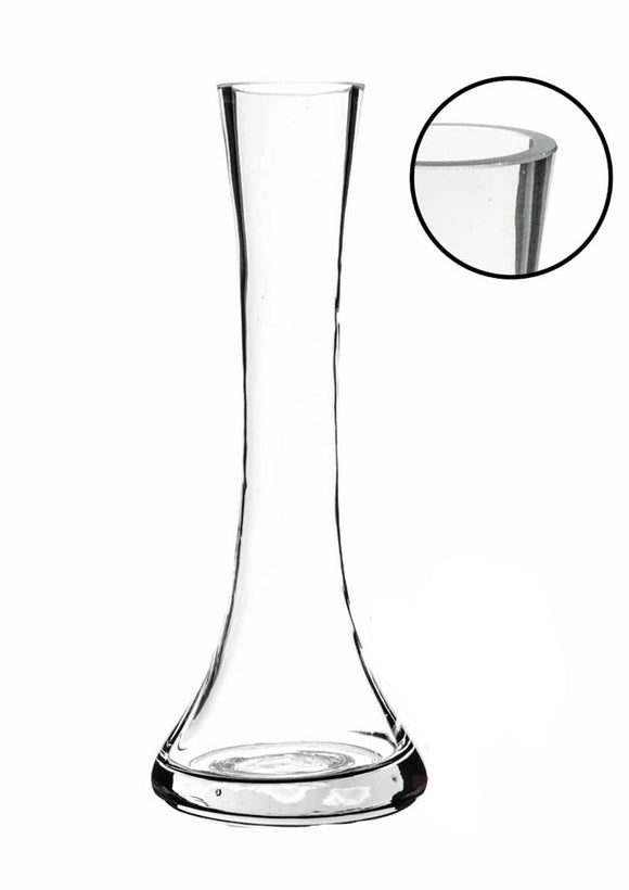 Clear Small Round Bud Vase. W: 3.25