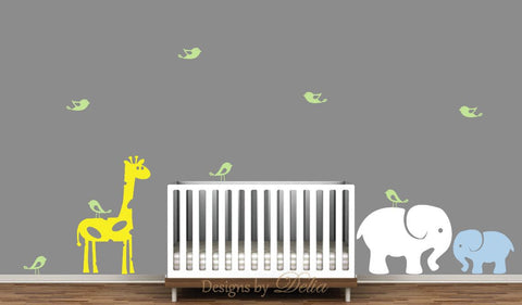 Baby Room Decals with Jungle Animals