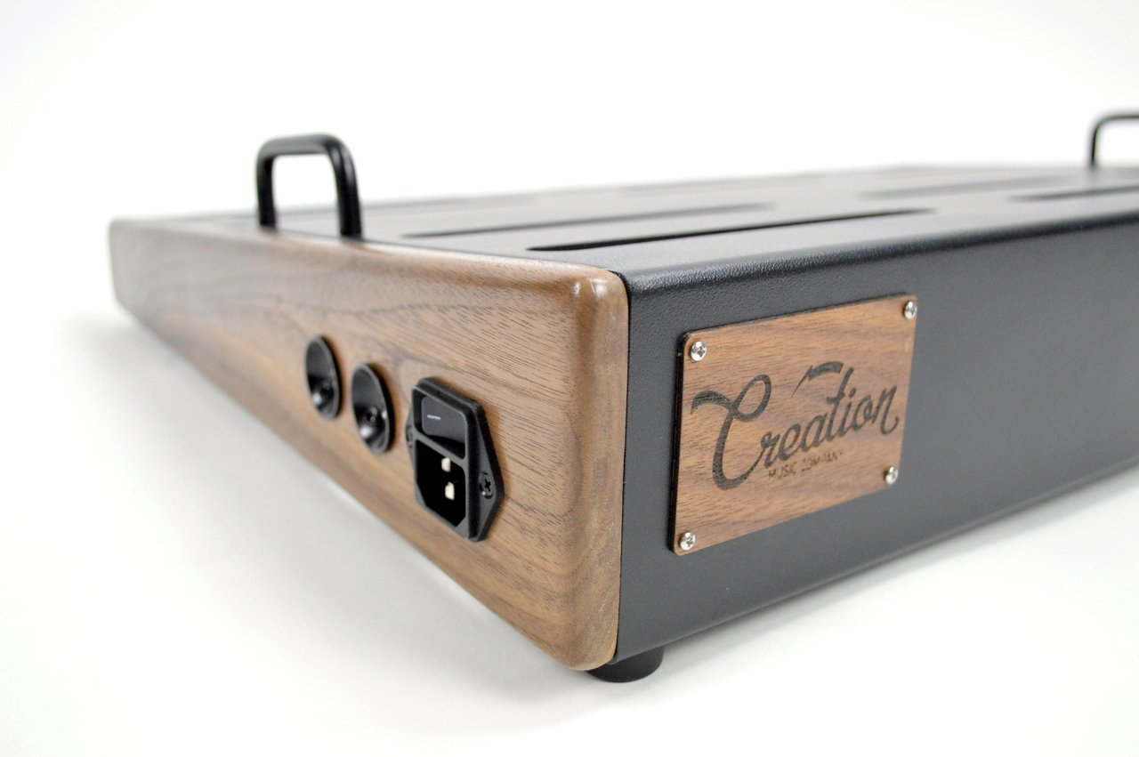 Creation Music Company - Pro Elevation Series Pedalboard 24x16 - Walnut w/Soft Case