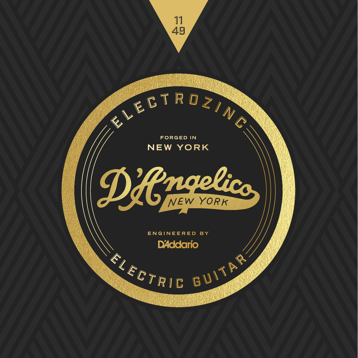 D'Angelico Electrozinc Strings Rock 11-49