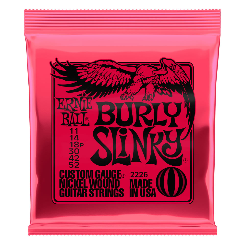Ernie Ball Burly Slinky Nickel Wound Electric Guitar Strings - 11-52 Gauge