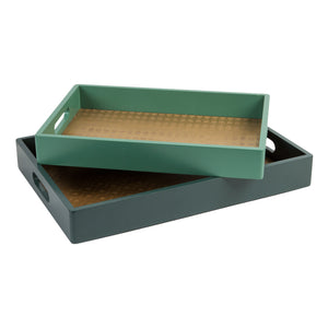 Amazonia Collection Set Of 2 Serving Trays - The Love Trees