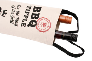 BBQ Fire Extinguisher Canvas Wine or Spirit Bottle Bag - The Love Trees
