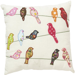 Birds On Telegraph Wire Cushion - The Love Trees