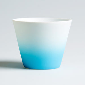 Ombre Tea Light Holder Blue