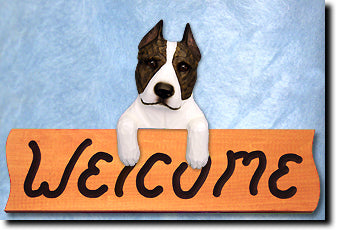 American Staffordshire Terrier Welcome Sign