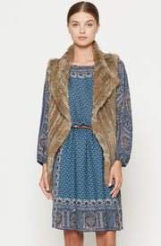 Joie JOIE - Andoni Fur Vest at Blond Genius - 1