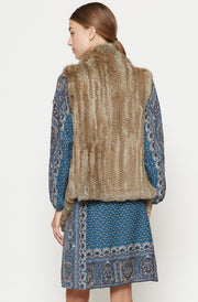 Joie JOIE - Andoni Fur Vest at Blond Genius - 2