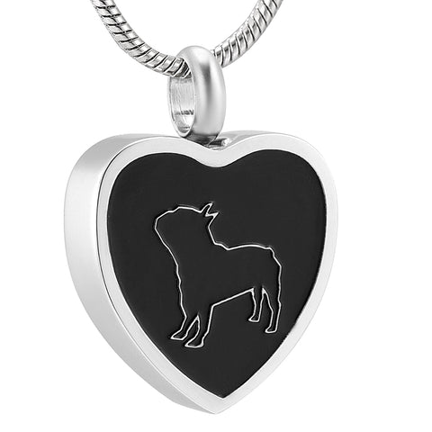 Bulldog Cremation Necklace Urn for Ashes - Pet Memorial Jewelry Pendant