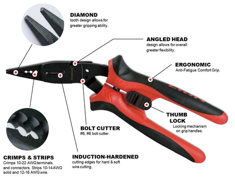7-In-1 All-Purpose Angle Nose Pliers