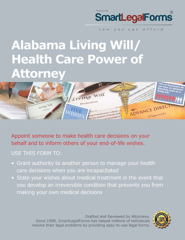 Alabama Living Will/Health Care Power of Attorney - SmartLegalForms