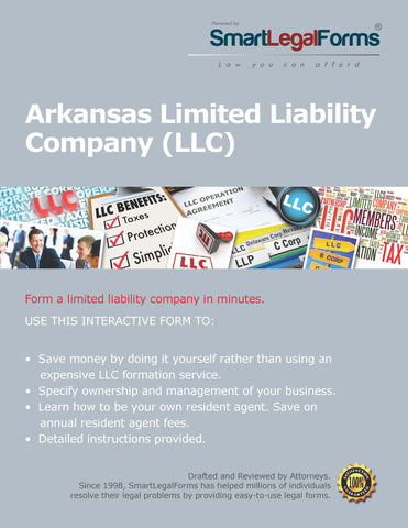 Article of Organization (LLC) - Arkansas - SmartLegalForms