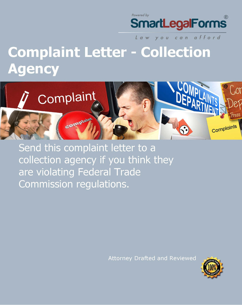 Complaint Letter - Collection Agency - SmartLegalForms