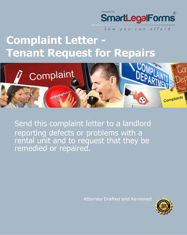 Complaint Letter - Tenant Request for Repairs - SmartLegalForms