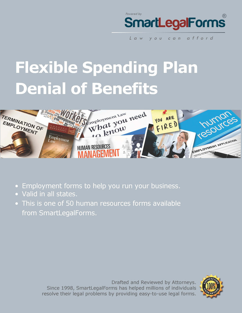 Flexible Spending Plan Denial of Benefits - SmartLegalForms
