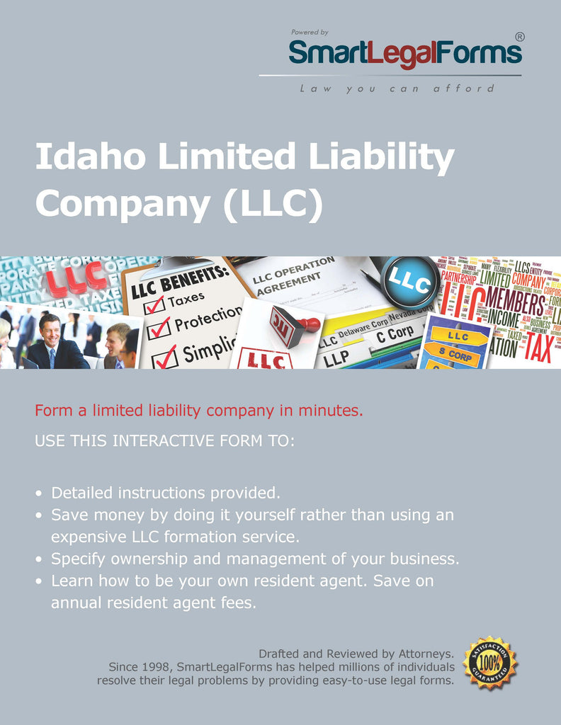 Certificate of Organization (LLC)  - Idaho - SmartLegalForms