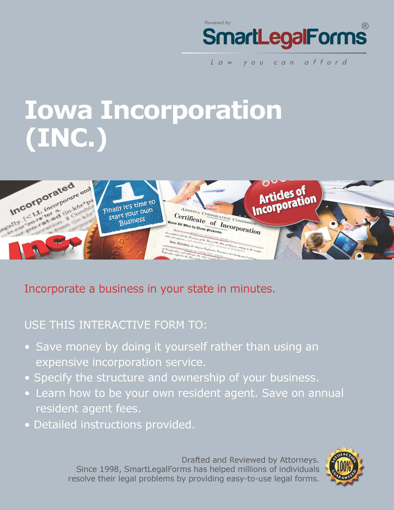 Articles of Incorporation (Profit) - Iowa - SmartLegalForms