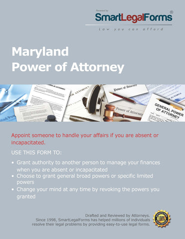 Power of Attorney (Statutory Forms) - Maryland - SmartLegalForms