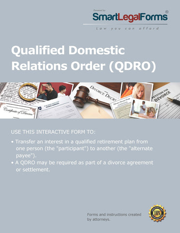 Qualified Domestic Relations Order - SmartLegalForms
