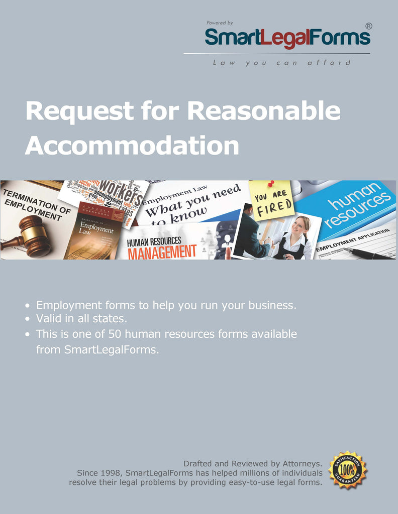 Request for Reasonable Accommodation - SmartLegalForms