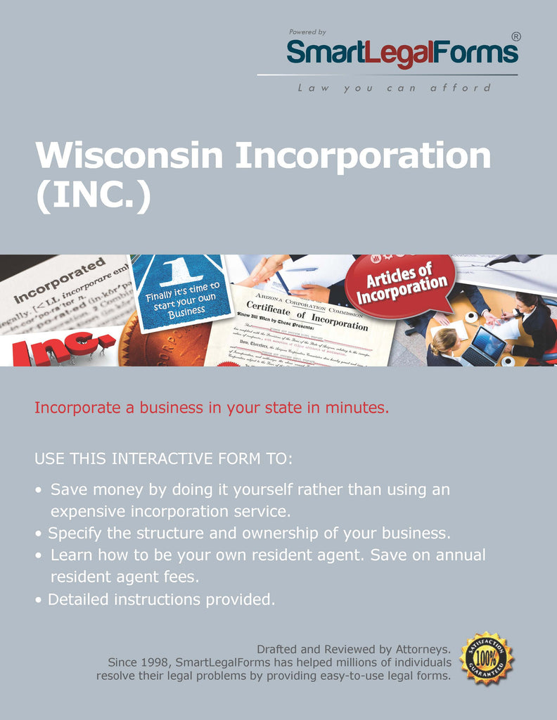Articles of Incorporation (Stock For Profit) -  Wisconsin - SmartLegalForms