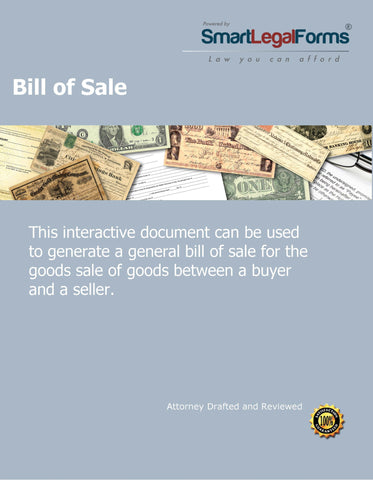Bill of Sale - SmartLegalForms