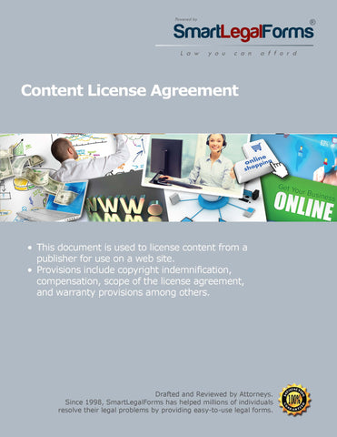 Content Licensing Agreement - SmartLegalForms