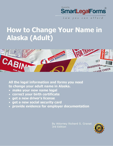 Change Your Name in Alaska (Adult) - SmartLegalForms