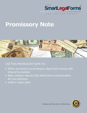 Promissory Note - SmartLegalForms