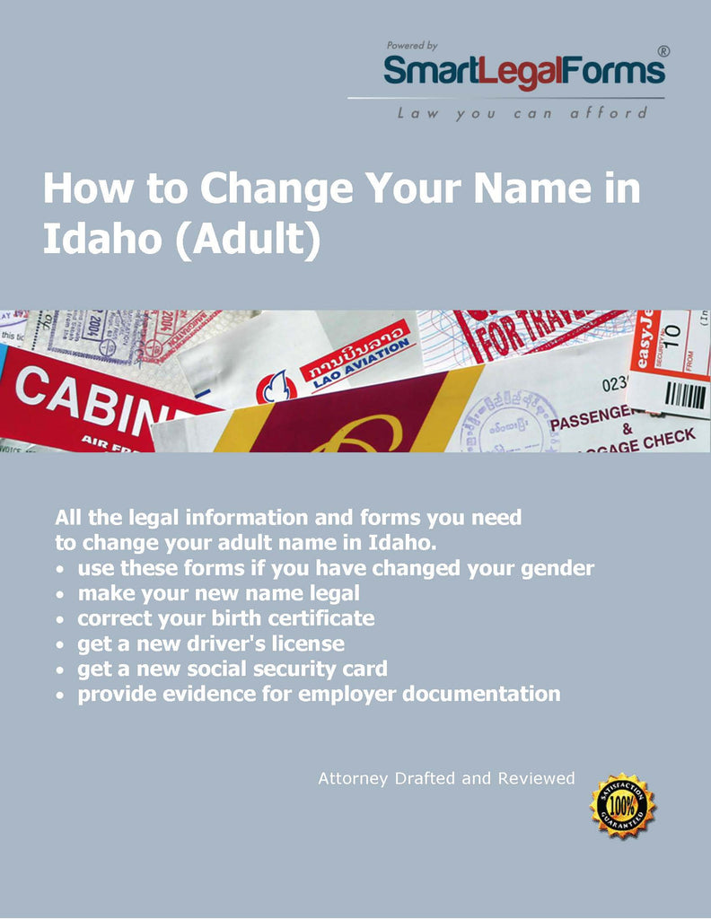 Change Your Name in Idaho (Adult) - SmartLegalForms
