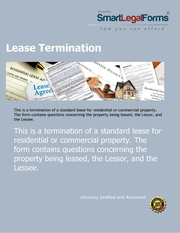 Lease Termination Agreement - SmartLegalForms