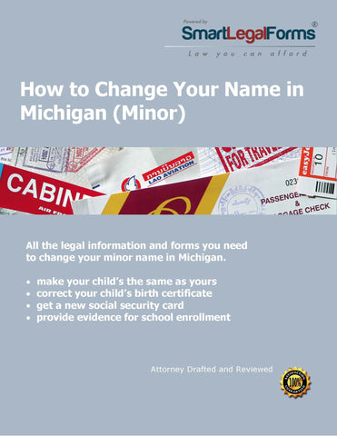 Change the Name of a Minor in Michigan - SmartLegalForms