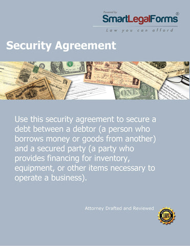 Security Agreement - SmartLegalForms
