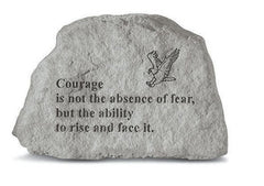Courage Is Not The Absence W/Eagle Inspirational Garden Stone