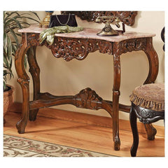18th Century French Antique Replica Hand Carved Console Table