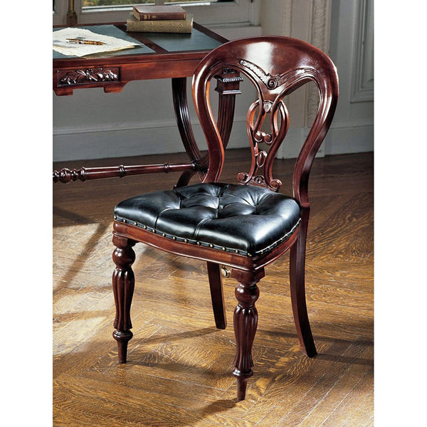 SIMSBURY MANOR LEATHER SIDE CHAIR          RPK-OS3
