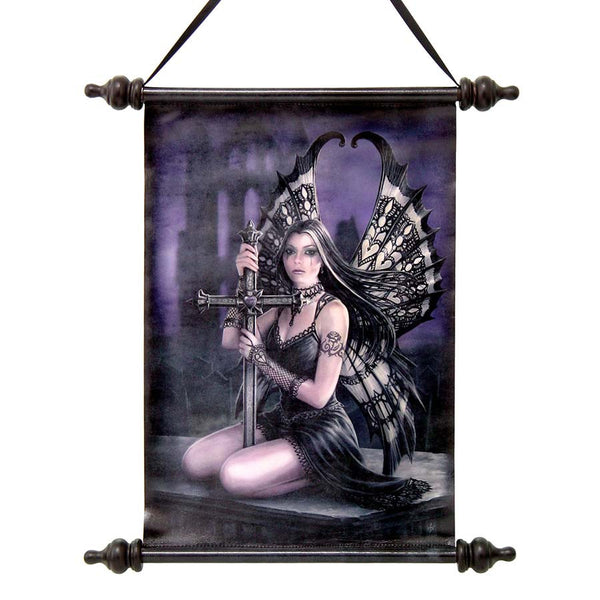"17"" Lost Love Gothic Fairy Canvas Wall Scroll Tapestry Hanging"