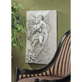 "36"" Nude Romantic Lovers Angels Cupid Psyche Sculptural Wall Sculpture Decor Inspired By the Original 1895 Painting By William-adolphe Bouguereau"
