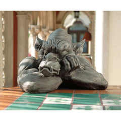 "11.5"" Sleeping Tired Goliath Dragon Gargoyle Sculpture Statue Figurine [Kitchen]"