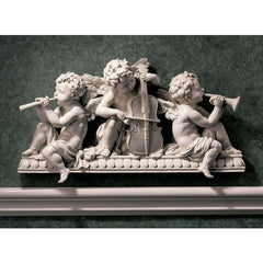 "10.5"" Baby Angels Classic Cherub Architectural Baroque Palace Wall Door Pedim..."